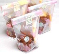 Wholesale biscuit cake bread cookie bag pink yellow dot printed plastic snack bag bake gift bag cm cm