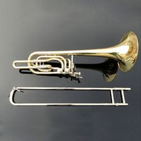 bb trombone - Copy of Bach b bass trombone playing musical instrument Double piston BB adjustable