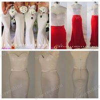 sequin elastic - Real sample Grey Red Ivory Mermaid Bridesmaid Dresses Sequins Sparkly Sexy Elastic Satin Bridesmaids Dress Long Evening Prom Gowns