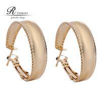basketball wives - 2015 Hot Hoop Earrings K Real Gold Plated Earrings Basketball Wives Fashion Jewelry Gift For Women Freeshipping