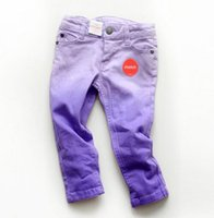 baby wells - Purple Gradient Girls Jeans Stretch Well sewing Baby Girls Pants Children Kids Trousers Girls Clothing Clothes calca meninas