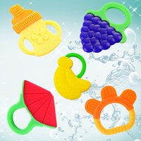 Wholesale Baby Teether safe Silicone teethers appease Training Toothbrush Watermelons bananas grapes bottle bracelet Soothers baby tooth trainer