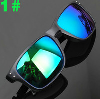 Wholesale 1pcs Super Cool High quality Men Women Fashion Sunglasses Resin lenses Outdoor sports sun glasses Windproof cycling goggles