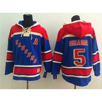 Wholesale Rangers Girardi Blue Hockey Hoodies New Fashion Hockey Wears Pullover Sports Teams Uniforms Top Quality Winter Outdoor Sportswear
