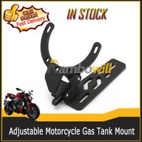 Wholesale Motorcycle Adjustable Phone Camera Video Holder Mount Black Adjustable Gas Tank GPS Bracket Kit For Honda BMW