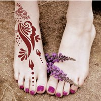 airbrushing stencils - Waterproof Tattoo Templates Hands Feet Henna tattoo Stencils for Fake Airbrushing Mehndi Body Painting Kit Supplies S401
