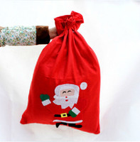 gift wrapping paper - Christmas Gift Bags Tote Bags Santa Clause Candy Bags String Bags for Xmas Festival Party Supplies Non Woven Gift Wrap for Christmas