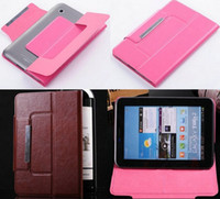 "Cheap Ultra Slim Flip Smart Cover 7"" KOBO Aura HD ereader Kobo VOX Nook HD Color Tablet Leather Case Shell +Flim+Stylus Free Shipping"