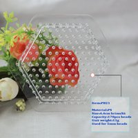 Wholesale PB21 hexagon PegBoards template for mm Perler Hama Fused Beads different shape Clear Linkable Small Pegboard