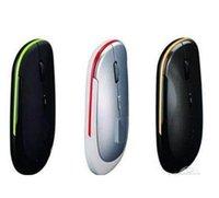 Wholesale 100pcs Ultra Thin USB GHz Wireless Computer Mouse Slim Adjustable Mice Receiver for Laptop Desktop Free DHL Fedex