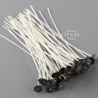 Wholesale 50pcs Candle Wicks Inch Pre Waxed and Tabbed Cotton Core Candle Making Supplies