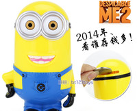 money box - 2015 New Minions Saving Pots Despicable Me Coin Savings Toys Kids Gifts Customized Logo Creative Toys Cartoon Money Saving Box Cute Toys Hot