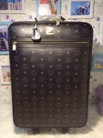Wholesale 2015 New Brand MCM Fashion Box Luggages Classical Black Suitcases New Big Size Traveling Case For WOmen Mens