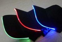 baseball captain - Fashion Hot LED Light Hat Glow Hat Black Fabric For Adult Baseball Caps Luminous Colors For Selection Adjustment Size Xmas Party