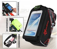 Wholesale Touchscreen Bicycle Saddle Bag Waterproof Cycling GPS Pouch Bag Mountain Bike Mobile Phone Bags