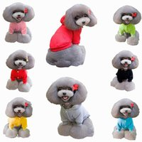 Wholesale 3PCS Fashion Cotton Pet Dog Cat Apparel Winter Warm Puppy Outwear Clothes Colors Size Choose EPH