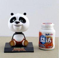 action kung fu - 10pcs Movie Kung Fu Panda Bobble Head Car Ornament Cartoon Toy PVC Action Figure Model Gift cm approx