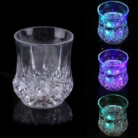Wholesale ASLT New LED Glowing Mug Water liquid Inductive Light up Drink Wine Glass Cup order lt no track