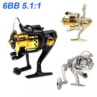 Cheap New 2015 Pesca 6BB Ball Bearings Left Right Fishing Reel Interchangeable Collapsible Handle Fishing Spinning Reel SG3000 5.1:1