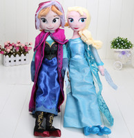 Wholesale 10PCS CM EMS Frozen Princess Elsa Plush Anna Plush Toys cute stuffed dolls cotton lovely Birthday gift for kids
