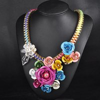 american indian names - Ladies necklace N00192 Europe and the United States big name jewelry Bohemia flower woven Collar Necklace necklace