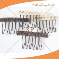 wig clips - Black Brown Lace Wrap Wig Accessories cm cm Hair Wig Combs and Clips For Wig Cap Black Color