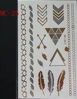 arab necklace - CM maple leaves eyes the palm Kgold necklace tattoo flash metallic tattoo gold temporary henna tattoos choker sticker Arab