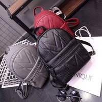leather weekend bags - Cute Backpack Style Women Fashion Bags Double Shoulder Ladies Bags Multi Colors Red Gray Black Women PU Leather Backpack Weekend Causal