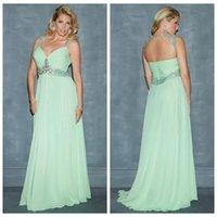 Wholesale Cheap Plus Size Bridesmaid Dresses Floor Length V Neckline Rhinestone vestidos de graduacion largos Appliques Wedding Party Dresses