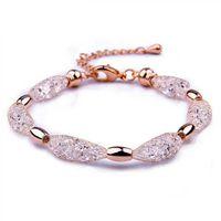 Compra Cristales checo pulseras-2015 Infinity 18K oro plateado checo cristal stardust encanto pulsera para el brazalete de la amistad de las mujeres