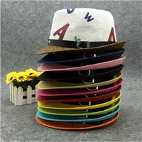 straw hat fashion straw hat fedora straw hat - New Fashion Lovely Children Straw Fedora Hats Stylish Boys Girls Summer Beach Cowboy Hats Panama Jazz Hats EUK