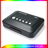 Wholesale 720p HD Media Center RM RMVB AVI MPEG TV Player with USB and SD MMC Port D