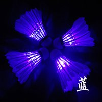 Wholesale best selling new sports props colorful flashing Dark Night LED Badminton Shuttlecock Birdies Lighting