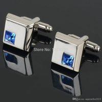 Wholesale crystal cufflinks male French shirt rass men s shirt cuff cufflinks cuff links cufflink IA940 W0 SYSR