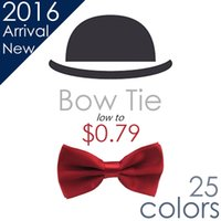 Wholesale Unisex Neck Bowtie Men s New Pure Bow Tie Adjustable High Quality Wedding Party Groom Tie Accessories Colors