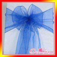 Wholesale 50Pcs CM CM Chair Sashes Wedding Party Banquet Organza Bow Cover Chair Decoration Supplies Wholesales