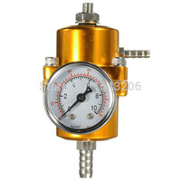 Wholesale 0 PSI Gold Fuel Universal air Pressure Regulator Adjustable Pressure Gauge small order no tracking