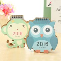 Wholesale 2016 Desk Paper Calendar Cute Animal Office Flip Stand Desktop Scheduler Table Planner Pad Dual Daily Yearly Agenda Organizer