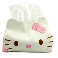 baby wipe box cover - Hello Kitty Tissue Holder Baby Wipes Faux PU Leather Cover Paper Box Jacket