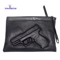 Wholesale New Styles Women s D Print Gun Shoulder Bag With Strap Fashion Trend Pistol Day Clutch Bags Black Handbags On Sale