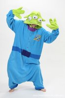 alien costume women - Winter Sleepwear Hoodie Cosplay Squeeze Toy Story Blue Aliens Costume Dresses Pajamas Anime Halloween Costumes For Women S M L XL