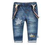 Wholesale Fall new boy cowboy star patch washed braces cowboy BH1439
