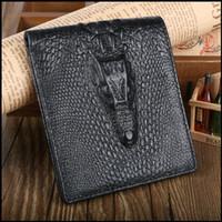 Wallets genuine leather wallet - brand new men designer genuine leather Alligator Purse wallet high quality credit card holders wallets for men D2014