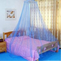 Wholesale 2015 Elegant Color Bed Mosquito Netting Mesh Canopy Princess Round Dome Bedding Net Mosquito Net pieces