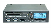 Wholesale New inch USB Media Dashboard LCD Front Panel Card Reader Temperature Display zl714