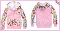 allover print jacket - Girls Coat Winter Jacket Kids Kids Jackets NWT Hello Kitty Girls Pink Allover Print Fleece Hoodie Jacket
