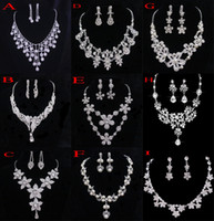 wedding ring set - Crystal Bridal Jewelry Wedding Accessories Sets Two Pieces Silver In Stock Rhinestone Wedding Dress Necklace Earings