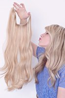 Wholesale 100 European Natural Hair Halo Flip in Hair Extensions No Clips No Glue Easy to Wear Bleach Blonde Straight Italian Wave Body Wave