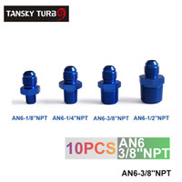 Wholesale Tansky unit High Quality AN6 NPT Oil cooler fitting Blue For Universal With No Logo have in stock AN6 NPT