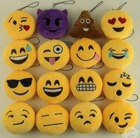 bag emoticon - Emoji keychains Cute Emoji Emoticon Soft Stuffed Plush Toys Dolls styles Keychain Pendant Bag Accessory Keyrings gifts newest